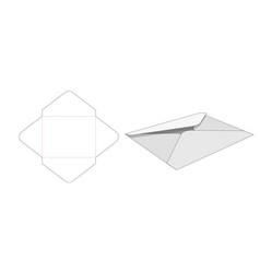 Envelope die cut template vector