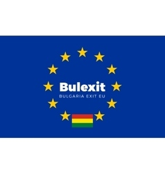Flag of Bulgaria on European Union Bulexit - vector