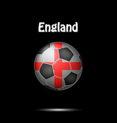 flag of england in the form of a soccer ball vector image