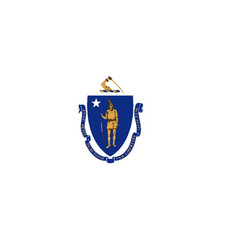 Flag of massachusetts vector