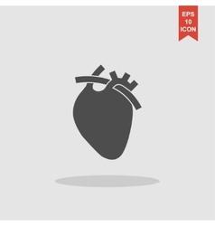 flat heart icon Eps 10 vector image