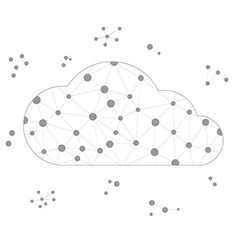 Frame polygon cloud with gray lines and circles vector