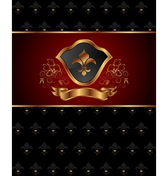 golden ornate frame vector image