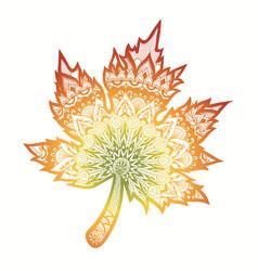 Gradient autumn leaf vector