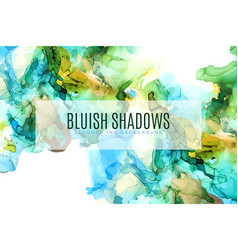 green blue and gold shades ink background vector image