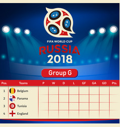 Group g qualifier table russia 2018 world cup vect vector