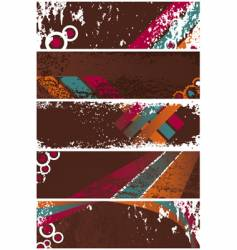 grunge banners template vector image