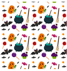 Halloween elements pattern vector