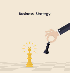 hands and king of chess symbolbusiness and vector image