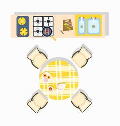 Home kitchen plan design vector