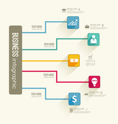 Infographic business flowchart template vector