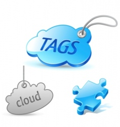internet cloud tag icon vector image