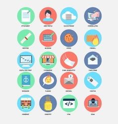 Internet trend flat design icons vector