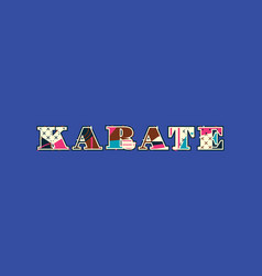 Karate concept word art vector