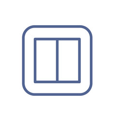 linear electric light switch icon with two buttons vector image