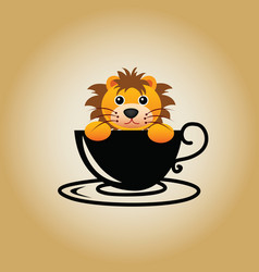 Lion logo coffee vector