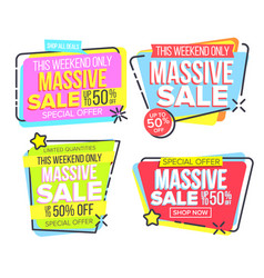 massive sale special offer discount vector image