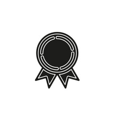 medal prize icon - award medal first place vector image