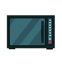 Modern black microwave vector