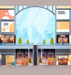 Modern retail store interior shopping mall with no vector