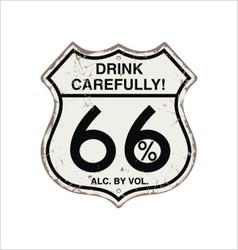 Most popular road sign vintage rust for the bar vector