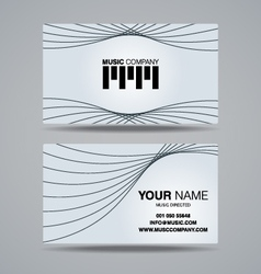 Music company name card template vector