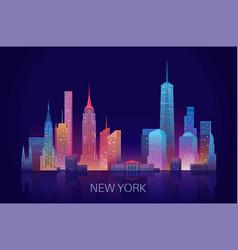 New york skyline vector