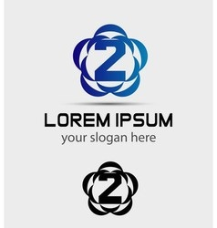 Number three 2 logo symbol design template element vector