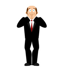 omg boss facepalm oh my god businessman is vector image
