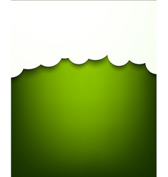 Paper white clouds on green vector
