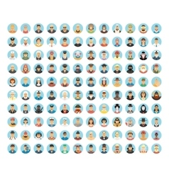 People avatar collection Flat icons of people vector image
