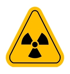 Radiation sign vector image