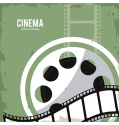 Reel strip movie film cinema icon graphic vector