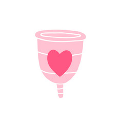 reusable menstrual cup vector image