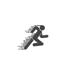 runner icon run logo in flat and linear style vector image