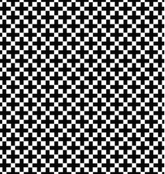 Seamless black and white greek cross pattern vector