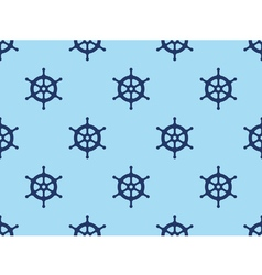 Seamless ships steering wheel pattern vector image