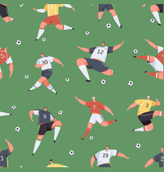 seamless sports pattern with active football vector image