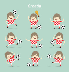 set character actions croatia national football vector image