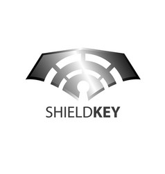 shield key logo concept design symbol graphic vector image