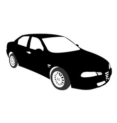 Silhouette of Car black vector