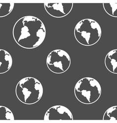 Silhouette planet earth pattern vector image