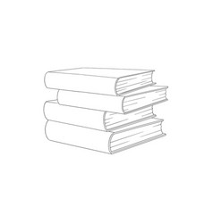 sketch book pile stack vector image