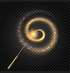 Sparkling magic wand vector