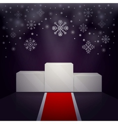 Sport winners pedestal winter theme vector image