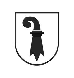 Switzerland canton flag swiss heraldry crest vector