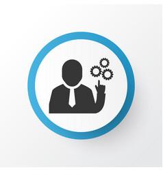 team leader icon symbol premium quality isolated vector image