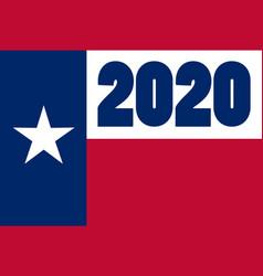 Texas state flag 2020 vector