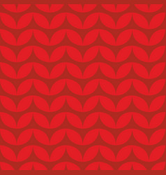 Tile red knitting pattern or winter background vector
