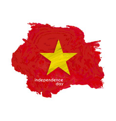 vietnam country map with indepenence day lettering vector image